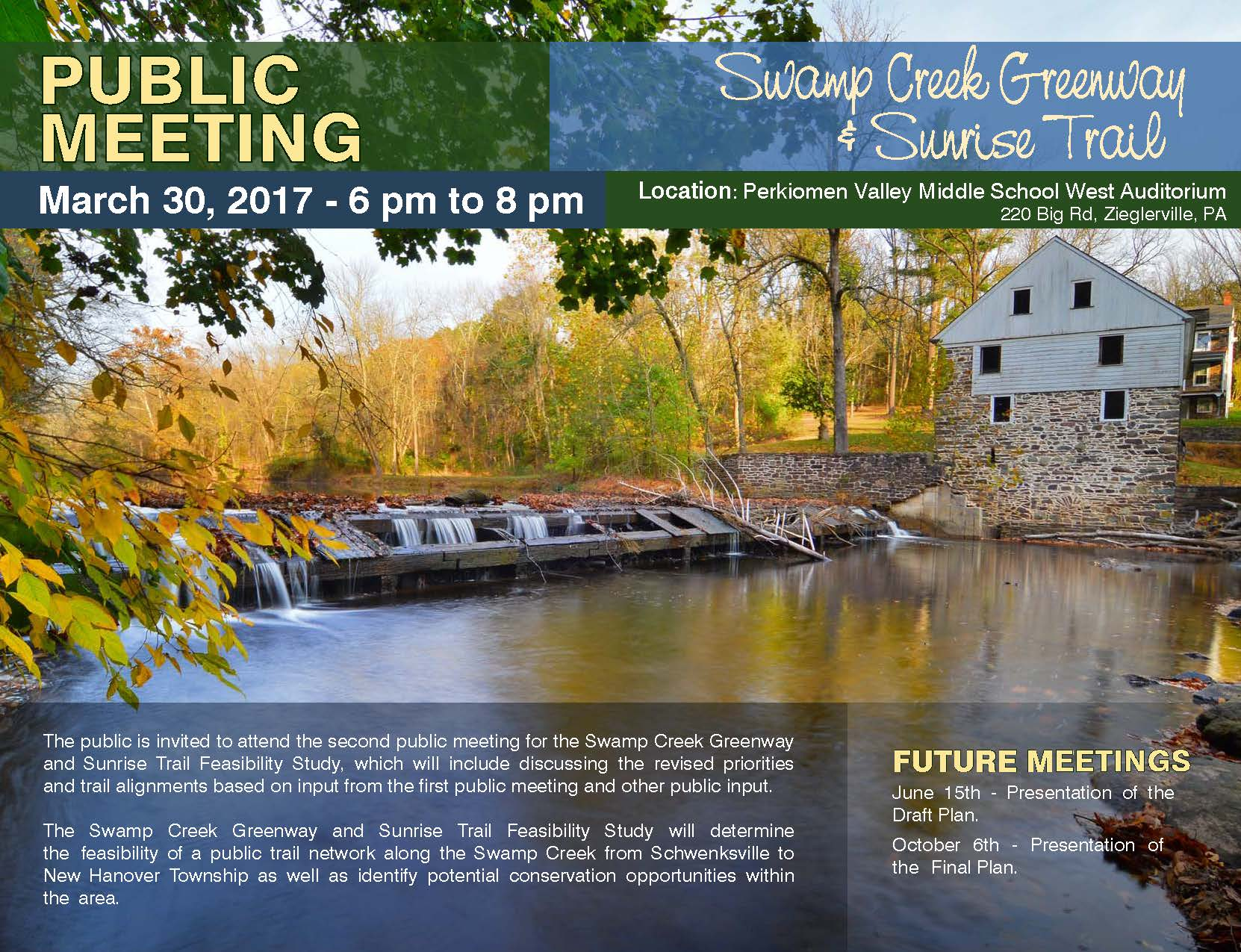 Swamp Creek Public Meeting Flyer