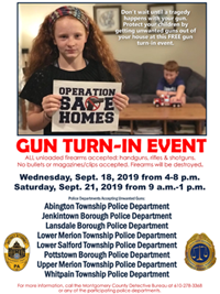 Operation Safe Homes - Gun Turn In Event Small