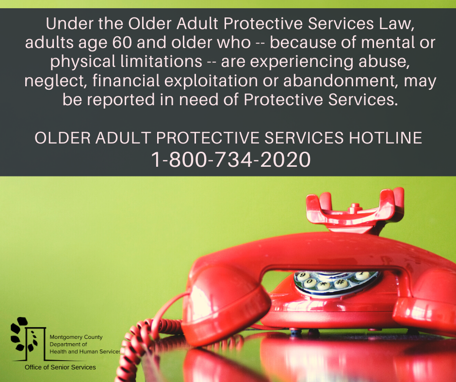 FB Post - Older Adult Protective Services