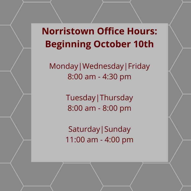 Norristown Office Hours