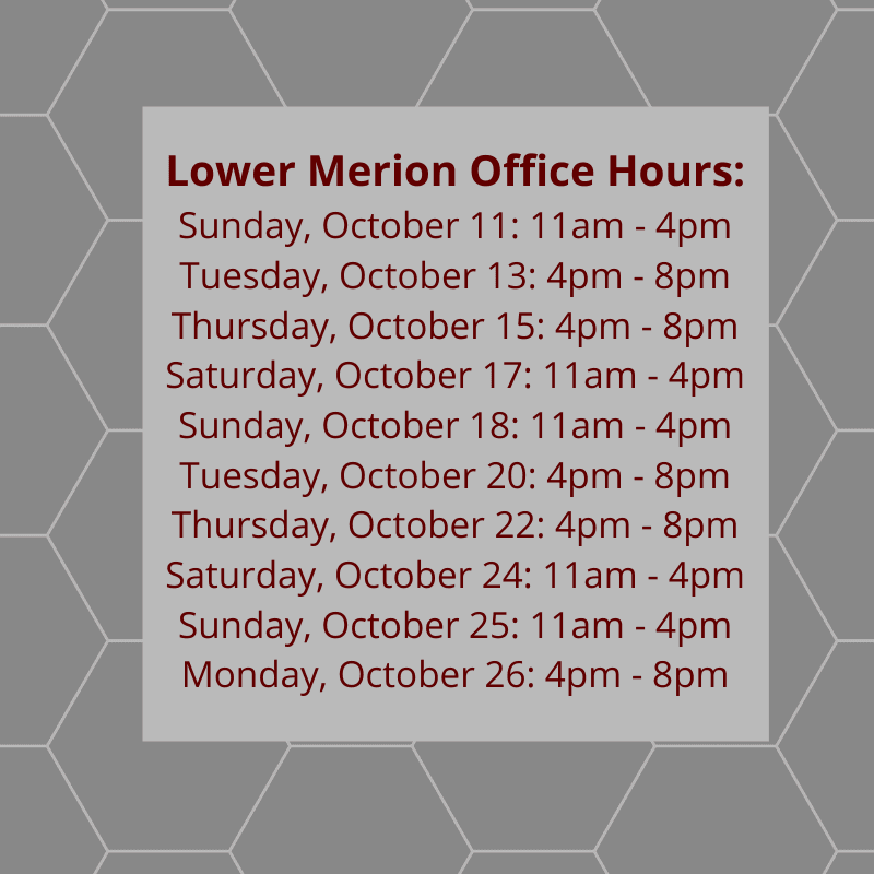 Lower Merion Satellite Office Hours