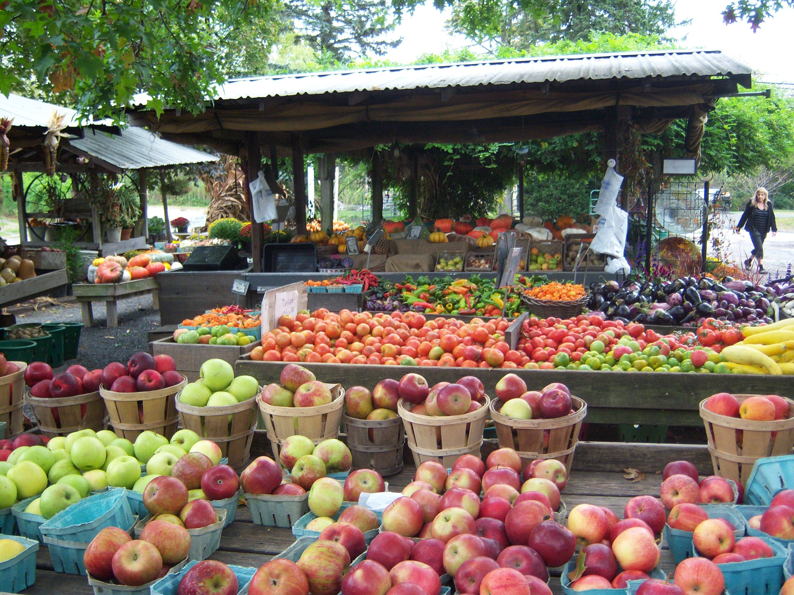 Farm stand selling produce