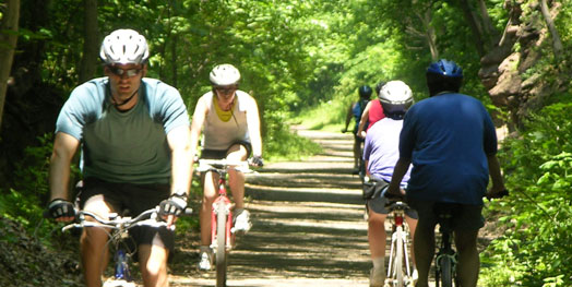 Bicycles on the trail