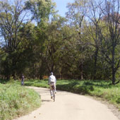 Cyclist on trail